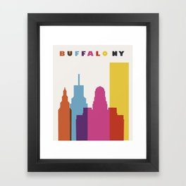 SKY BUFFALO Framed Art Print
