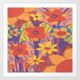 Sunshine and Wildflowers Art Print