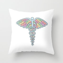 Medical DNA Throw Pillow