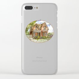 Victorian Beauty Clear iPhone Case