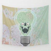 gore Wall Tapestries featuring Think Martian  by Geekleetist