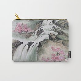 WATERFALLS AND MOUNTAIN LANDSCAPE Carry-All Pouch