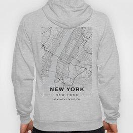New York Map Hoody