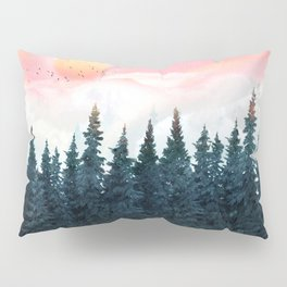Forest Under the Sunset Pillow Sham