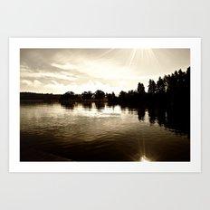 Loch Lomond Sunshine Art Print