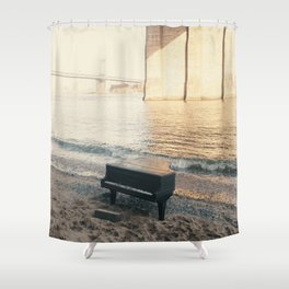 east river piano Shower Curtain