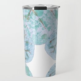 Sea Grape Tropical Leaves Travel Mug