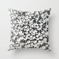 mirror Throw Pillows featuring Mirror by Judith Abbott