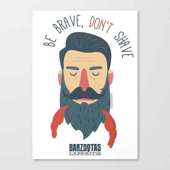 Bazdotas lapkritis No Shave November Canvas Print