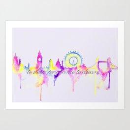London skyline Shakespeare Art Print