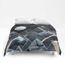 Stormy Mountains Comforters