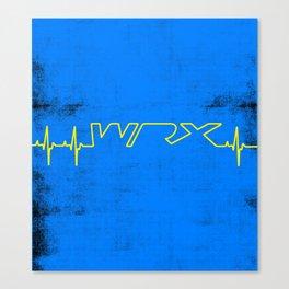 WRX Heartbeat Canvas Print