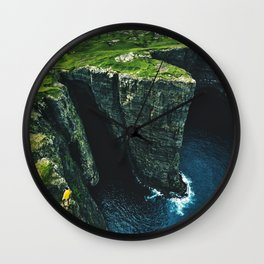 hiking at the faroe Wall Clock