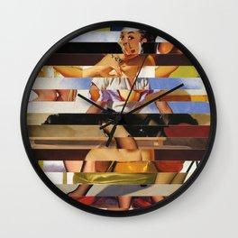 Glitch Pin-Up Redux: Heather Wall Clock