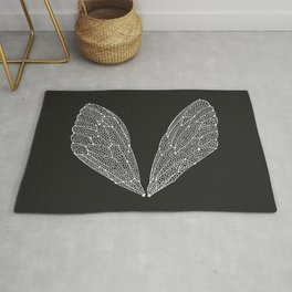 White Cicada Wings Rug