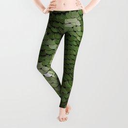 Green spangle Leggings