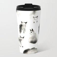 Cats Study Metal Travel Mug