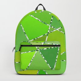 Geometric shapes in green gradient colors Backpack