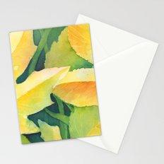 Bright leaf study Stationery Cards