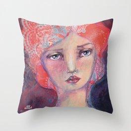 Folie by Jane Davenport Throw Pillow