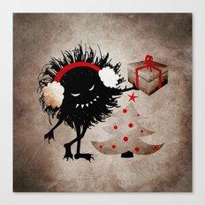 Evil Bug Gives Christmas Present Canvas Print