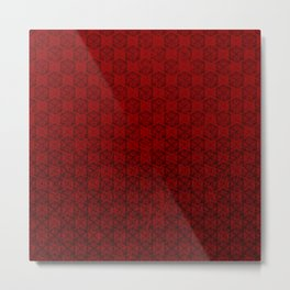 D20 Abyssal Crit Pattern Premium Metal Print