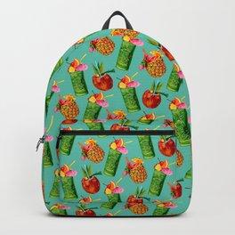 Tiki Cocktail Pattern - Teal Backpack