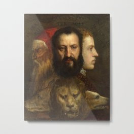 Titian - Allegory of Prudence Metal Print