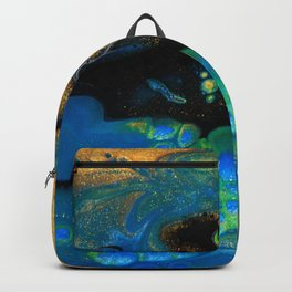 Liquid Elements - Abstract Acrylic Art by Fluid Nature Backpack
