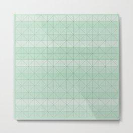 Geometric pattern mint green Metal Print