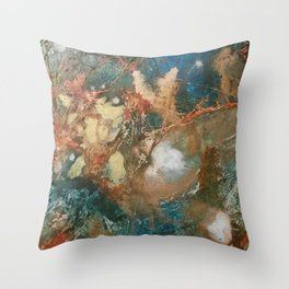 Copper Splash Throw Pillow