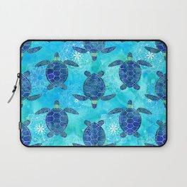 Watercolor Sea Turtles Mandalas Pattern Laptop Sleeve