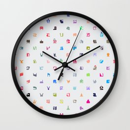 Everything and Everyone Wall Clock