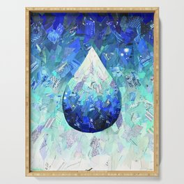 Hydration Water Drop Collage Serving Tray