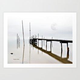 reflective Dock Art Print