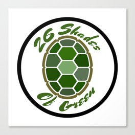 26ShadesofGreen Logo Canvas Print