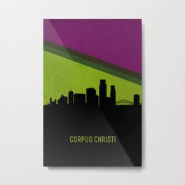 Corpus Christi Skyline Metal Print