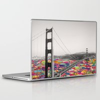 yellow Laptop & iPad Skins featuring It's in the Water by Bianca Green