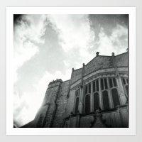 Old Church angle w/sky Art Print