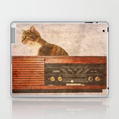 The Cat and the Radio Laptop & iPad Skin