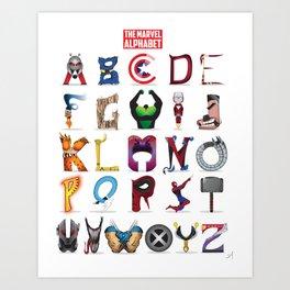 The ABC of the MCU - Vertical Art Print