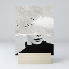 minimal collage /silence Mini Art Print