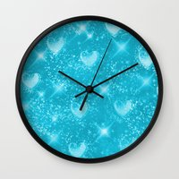 skyfall Wall Clocks featuring SkyFall by KRArtwork