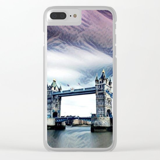 The Glorious London Bridge (Sunset & River) Clear iPhone Case