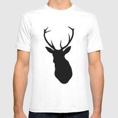 Deer White MEDIUM Mens Fitted Tee