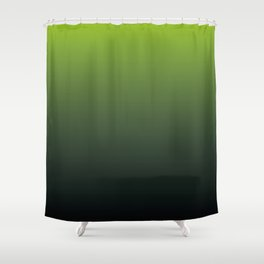 Ombre | Lime Green and Charcoal Grey Shower Curtain