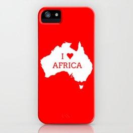 I Love Africa iPhone Case
