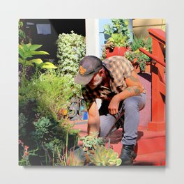The Gardener Next Door Metal Print