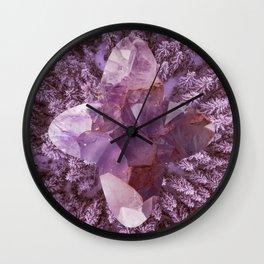 Amethyst Forest Wall Clock