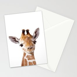 Baby Giraffe, Baby Animal Art Prints By Synplus Stationery Cards